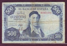 ESPAGNE - 500 Pesetas Ignacio Zuloaga - 22/07/1954 - [ 3] 1936-1975 : Regency Of Franco