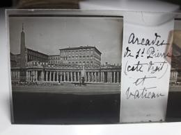 163 - Plaque De Verre - Italie - Rome - Vatican: Arcade De St Pierre Et Vatican - Glasplaten