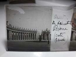164 - Plaque De Verre - Italie - Rome - Vatican: Arcade De St Pierre Côté Gauche - Glasplaten