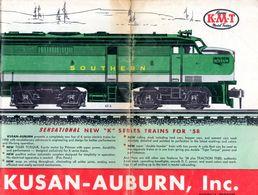 Catalogue KMT KUSAN AUBURN Inc 1958 New K Series Trains Brochure HO USA - Books And Magazines