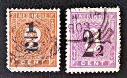 SURCHARGES 1902 - OBLITERES - YT 38/39 - MI 38/39 - Niederländisch-Indien