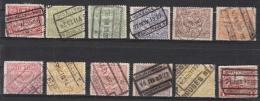 Belgique -TR  100 à 104 - 106 à 109 - 111 à 112 - 115 à 116 - 118 à 121 - 125 à 127 Obl. - 1915-1921