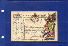 ##(DAN183)-1918-- Cartolina Postale  In Franchigia, Annullo  Meccanico Posta Militare Concentr. Sezione F Per Lucca - Weltkrieg 1914-18