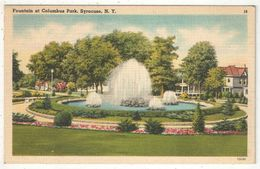 Fountain At Columbus Park, Syracuse, NY - Syracuse