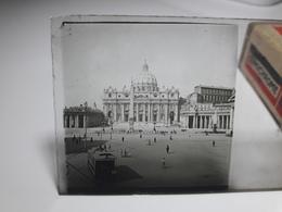 175 - Plaque De Verre - Italie - Rome - Vatican - Glasplaten