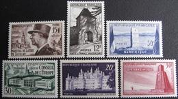LOT FD/1394 - 1952 - N°920 à 925 NEUFS** - France