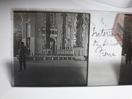 176 - Plaque De Verre - Italie - Rome - Vatican: Intérieur De Saint Pierre - Glasplaten