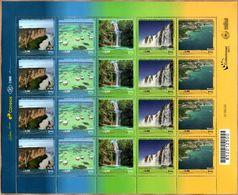 Brasil 2017 ** MINIPLIEGO 4 Series. Serie UPAEP Lugares Turísticos. - Brazil