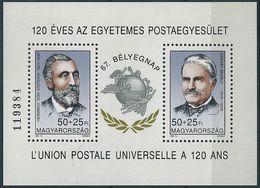 B0683 Hungary Organization Personality Post UPU Von Stephan S/S MNH - UPU (Universal Postal Union)