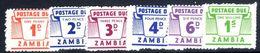 Zambia 1964 Postage Due Set Unmounted Mint. - Zambia (1965-...)