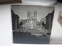 180 - Plaque De Verre - Italie - Rome - Glasplaten