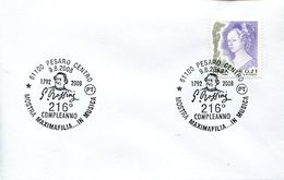 32475 Italia, Special Postmark 2008 Pesaro, Gioacchino Rossini, Music Opera Composer - Musik