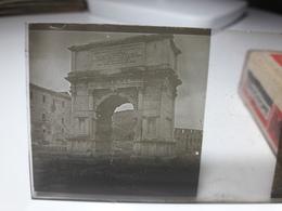 188 - Plaque De Verre - Italie - Rome - Glasplaten