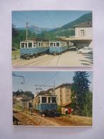 SUISSE (Canton Du Tessin) Ligne LUGANO TESSERETE En 1967 - LOT De 2 PHOTOS Du BVA - Détails  Sur Les Scans - Trains