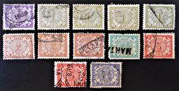 EMISSION 1902/09 - OBLITERES - YT 40/43 + 46/47 - VARIETES DE TEINTES ET D'OBLITERATIONS - Niederländisch-Indien