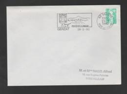 Flamme Dpt 63 : GERZAT (SCOTEM N° 12592 émise Le ???) : Portes De La Limagne - Poststempel (Briefe)