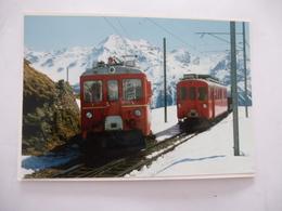 SUISSE (Canton Des GRISSONS) Ligne ALP-GRUM - TIRANO (ITALE) En 1960 - PHOTO Du BVA - Détails  Sur Les Scans - Trains