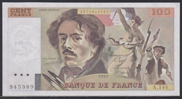 France 100 Francs 1989 UNC - 100 F 1978-1995 ''Delacroix''