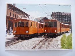 SUISSE (OBERLAND BERNOIS) Rames à Crémaillère à La PETIT SCHEIDEGG En 1990 - PHOTO Du BVA - Détails  Sur Les Scans - Trains