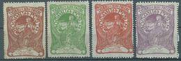 ROMANIA  - 1906 - MH/* - Yv 156-159 Mi 161-164 - Lot 16516 - 3 BANI GRATIS - 1881-1918: Carol I.