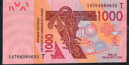 W.A.S. TOGO P815Tn 1000 FRANCS (20)14 2014 UNC. - Togo