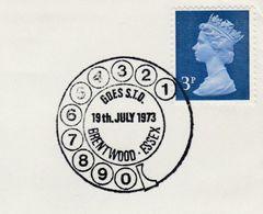1973 BRENTWOOD TELEPHONE EVENT COVER GB  Stamps Telecom - Telecom