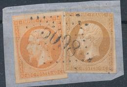 N°13B TYPE II + 16 SUR FRAGMENT G.C. 5098 INDICE 11 - 1853-1860 Napoleon III