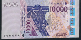 W.A.S. NIGER P618Hr 10000 Or 10.000 FRANCS (20)17 2017  UNC. - Niger