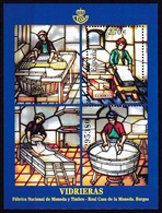 2009,  Spanien, 4420 Block 182. Glasfenster. Ventana De Cristal. MNH ** - 2001-10 Unused Stamps
