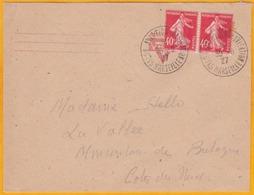 1927 - Enveloppe De Marseille Vers Mouton De Bretagne - Oblitération 1er Salon Aviation Navigation De Marseille - Marcophilie (Lettres)
