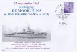 Minehunter M-219 HMS Rosario Was Build 1943 But Later Transferred To Belgian Flag In 1953 As F-905 De Moor P/m Royal Mai - Militaria