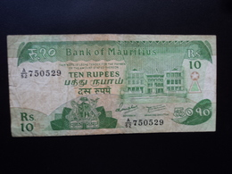MAURICE (île) : 10 RUPEES  ND 1985  P 35a    B+ * - Mauritius