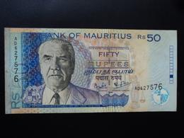 MAURICE (île) : 50 RUPEES  1999   P 50a    TTB - Mauritius