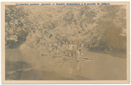 GUINEE EQUATORIALE, Ethnique - Muchachos Pomucs Pasando El Bimbili, Escuela De Anizok - Guinea Equatoriale