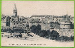 SAINT-MALO - Vue De La Porte Saint-Vincent Attelage Cheval Carte Circulé 1918 - Saint Malo