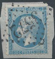 Lot N°41884  N°22/Fragment, Oblit GC 3572 St-Dizier, Haute-Marne (50), Ind 2 - 1862 Napoleon III