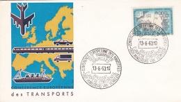 Belgium 1963 FDC Trafficministers Meeting Bruxelles (G90-32) - Trasporti