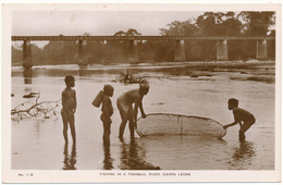 SIERRA LEONE - Fishing In A Tranquil River - Sierra Leone