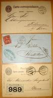 Helvetia 1867: Zu 38 Mi 30 Yv 43 - 10c Rot Auf Brief Mit O ENNENDA 4.VIII.74 & 2 Karten Mit O Von ENNENDA 1876 & 1899 - Briefe U. Dokumente