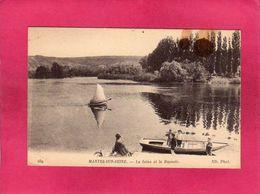 78 YVELINES, Mantes-sur-Seine, La Seine Et Le Raynoir, Animée, Barques, (ND Phot) - Mantes La Jolie