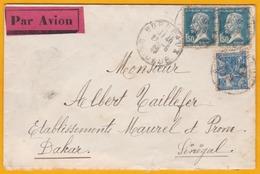 1929 - Enveloppe Par Avion De Nuit Précurseur  Air Union  Vers Londres - Via Paris Gare Du Nord Province - Marcophilie (Lettres)