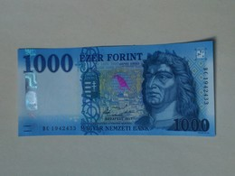 % Banknote - Hungary - 1000 HUF - 2017 UNC - DC - Issued On 1th March Of 2018 - Hungary