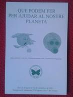 TARJETA TIPO POSTAL POST CARD POSTCARD CARTE POSTALE ECOLOGÍA ECOLOGISMO ECOLOGY PLANETA PLANET IGUALADA CATALONIA SPAIN - Postales