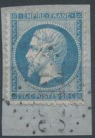 Lot N°41894  N°22/Fragment, Oblit GC 3242 Ruffec, Charente (15), Ind 3 - 1862 Napoleon III