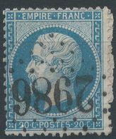 Lot N°41896  N°22/Fragment, Oblit GC 2986 Port-de-la-Nouvelle, Aude (10), Ind 4 - 1862 Napoléon III