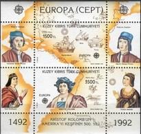 Chypre  Turc Turks Cyprus CEPT 1992 Yvertn° Bloc 10 *** MNH  Cote 10,00 Euro Colomb Columbus - Chypre (Turquie)