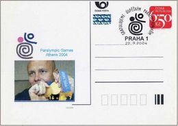 Czech Republic (04-22) Paralympic Games 2004 Czech Medailists -  Postcard - Summer 2004: Athens - Paralympic