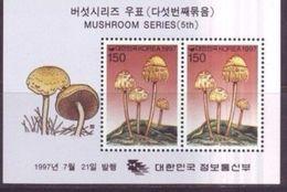 Korea 1997 M/S Plants Mushrooms Amanita Muscaria Fungi Plant Mushroom Nature CHAMPIGNONS Flora Stamps MNH (2) - Korea, South