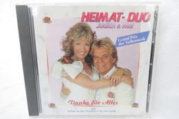 "CD ""Heimat-Duo Judith & Mel"" Grand Prix Der Volksmusik, Danke Für Alles - Music & Instruments"