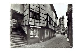 Cpsm - SHREWSBURY : Fish Street The Bear Steps - THE ORIEL Books Livres  - Camion - Shropshire